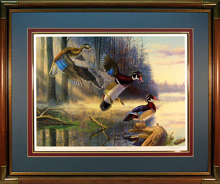 """A Place To Park"" - Wood Ducks print by wildlife artist Randy McGovern"
