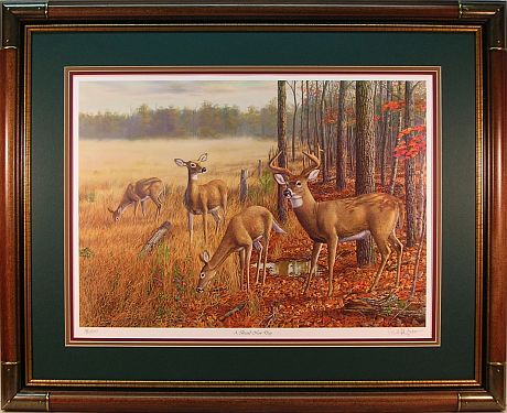 """A Brand New Day"" - Whitetail Deer print by wildlife artist Randy McGovern"