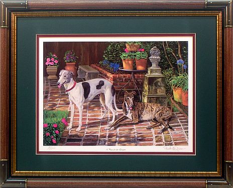 """A Place For The Elegant""- Greyhound Art Prints by wildlife artist Randy McGovern"