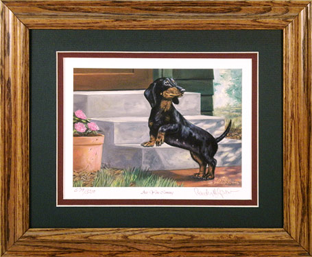 """Are You Coming?"" - Black and Tan Dachshund by Artist Randy McGovern"