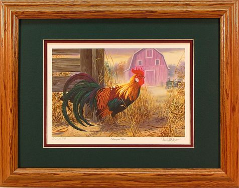 """Barnyard Boss"" - Country Rooster art by Artist Randy McGovern"