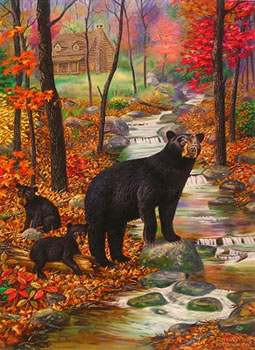 """Bearly Moving"" by wildlife artist Randy McGovern"