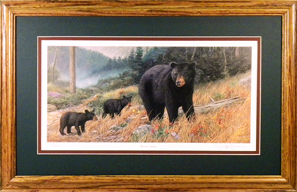 """Bearly Climbing"" - Bear Prints by wildlife artist Randy McGovern"