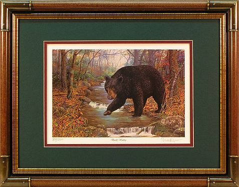 """Bearly Wading"" - Bear prints by wildlife artist Randy McGovern"