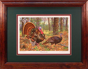 """Beauty And The Feast"" - Wild Turkeys by wildlife artist Randy McGovern"