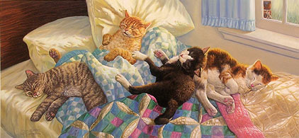 """Bedfellows"" by wildlife artist Randy McGovern"