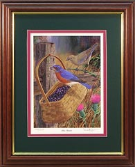"""Blue Bandits"" - Bluebirds by wildlife artist Randy McGovern"
