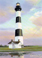 Bodie Island Lighthouse print by artist Randy McGovern
