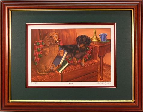 """Bookends"" - Dachshunds by wildlife artist Randy McGovern"