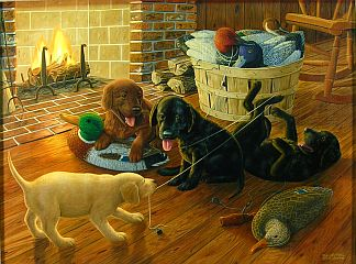 """Business As Usual"" by wildlife artist Randy McGovern"