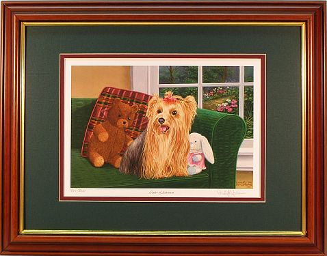 """Center of Attention"" - Yorkie Print by artist Randy McGovern"
