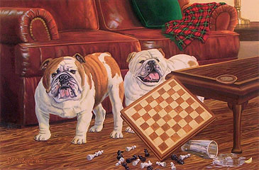 """Checkmate"" by wildlife artist Randy McGovern"