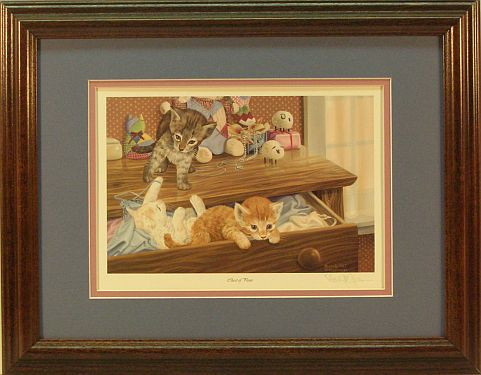 """A Chest of Paws"" Kitten print by wildlife artist Randy McGovern"