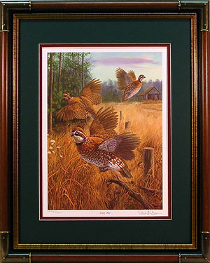 """Covey Rise"" - Quail print by wildlife artist Randy McGovern"