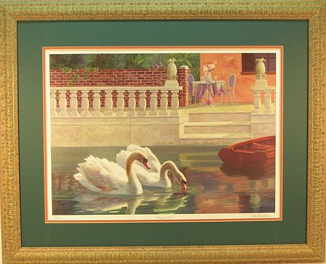 """Dinner for Two"" - Swan print by wildlife artist Randy McGovern"