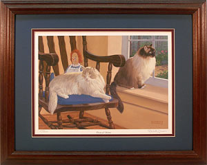 """Dreams and Schemes""- Ragdoll Cats art prints by wildlife artist Randy McGovern"
