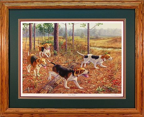 """Eager Beagles"" - Dog Print by wildlife artist Randy McGovern"