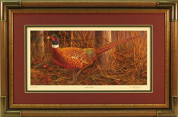"""Fencewalk"" - Pheasant Print by wildlife artist Randy McGovern"