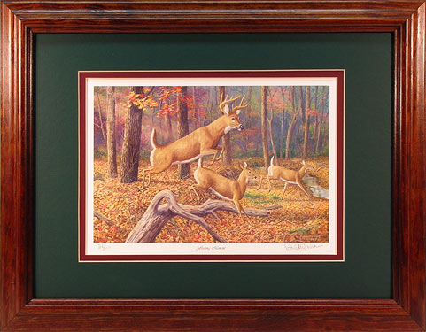 """Fleeting Moment"" - Whitetail Deer print by wildlife artist Randy McGovern"