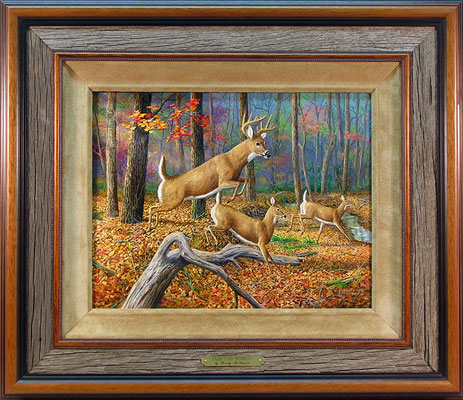 """Fleeting Moment By"" by wildlife artist Randy McGovern"