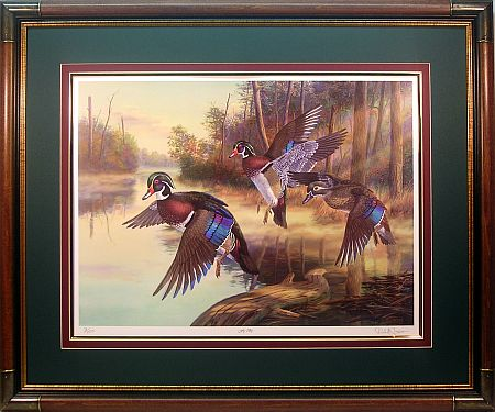 """Fly By"" - Wood Ducks by wildlife artist Randy McGovern"