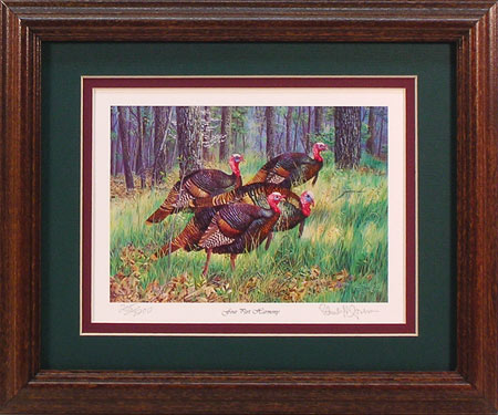 """Four Part Harmony"" - Wild Turkey print by wildlife artist Randy McGovern"