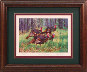 """Four Part Harmony"" - Wild Turkeys by wildlife artist Randy McGovern"