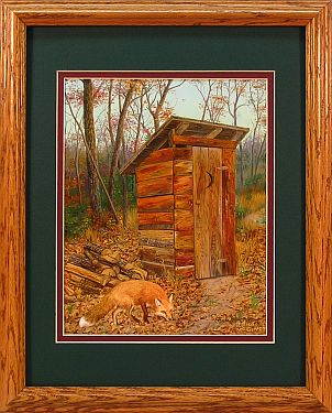 """Fragrant Memories"" - Country Outhouse by Artist Randy McGovern"