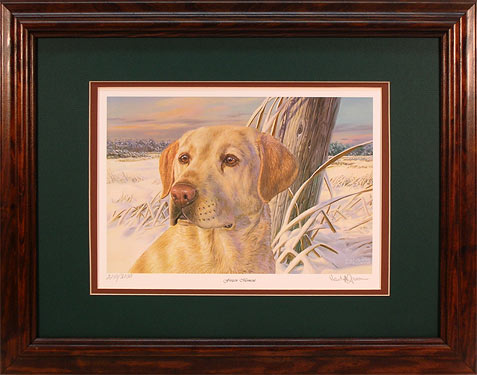 """Frozen Moment"" - Yellow Lab print by wildlife artist Randy McGovern"