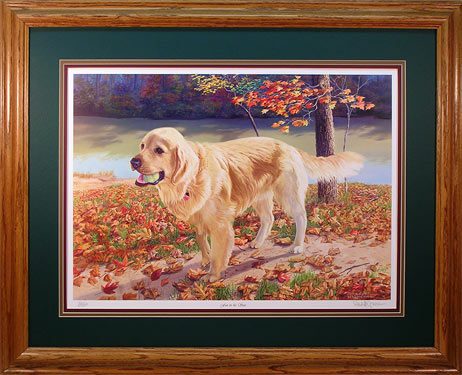 """Fun in the Sun"" - Dog Print by wildlife artist Randy McGovern"