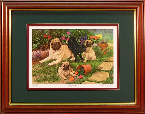 """The Gardeners"" - Pug Print by wildlife artist Randy McGovern"