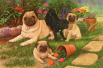 """The Gardeners"" by wildlife artist Randy McGovern"