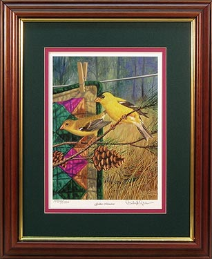 """Golden Memories"" - Golden Finch prints by Wildlife Artist Randy McGovern"