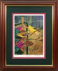 """Golden Memories"" - Gold Finches by wildlife artist Randy McGovern"