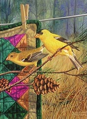 """Golden Memories"" - Gold Finches by artist Randy McGovern"