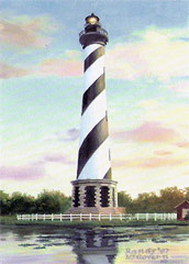 Cape Hatteras Lighthouse print by artist Randy McGovern