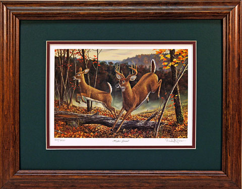 """Higher Ground"" - Whitetail Deer print by wildlife artist Randy McGovern"
