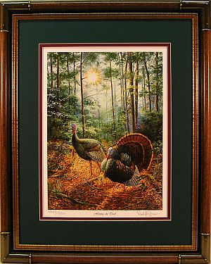 """Hitting the Trail"" - Wild Turkey print by wildlife artist Randy McGovern"