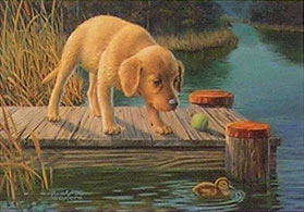 """Initiation"" - Golden Retriever by Randy McGovern"