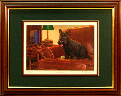 """I Rule This Couch"" - Scotty print by artist Randy McGovern"