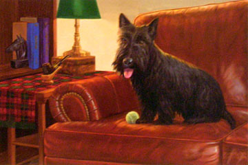 """I Rule This Couch"" by wildlife artist Randy McGovern"