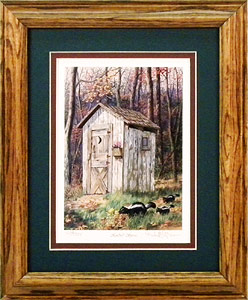 """Kindred Spirits"" - Country Outhouse by Randy McGovern"