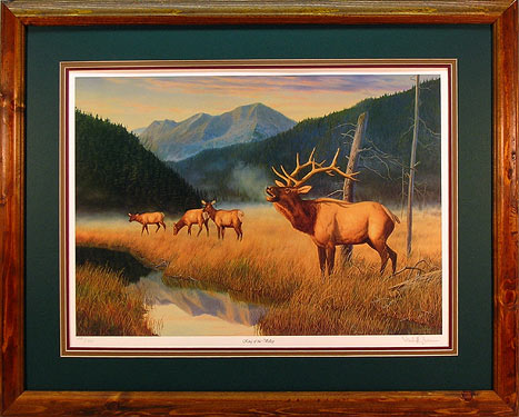 """King of the Valley"" - Elk prints by wildlife artist Randy McGovern"