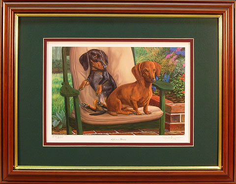 """Life Is A Breeze"" - Dachschund print by wildlife artist Randy McGovern"