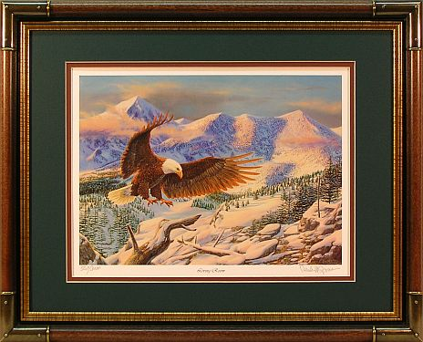 """Living Room""- Eagle Print by wildlife artist Randy McGovern"