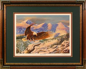 """Living Room"" - Bald Eagle by wildlife artist Randy McGovern"