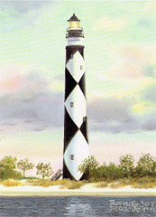 Cape Lookout Lighthouse print by artist Randy McGovern