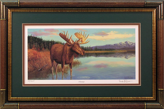 """Moosetique"" - Moose print by wildlife artist Randy McGovern"