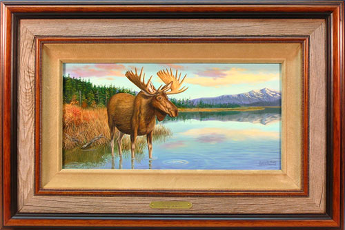 """Moosetique"" by wildlife artist Randy McGovern"