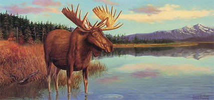 """Moosetique"" - Moose by wildlife artist Randy McGovern"